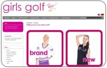 Webshop Golfbekleidung Hersteller girls golf GmbH