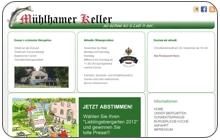 Konzept und Webdesign Biergarten Mühlhamer Keller