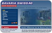 Internationaler Webauftritt für gebrauchte Baumaschinen Bavaria Swiss AG