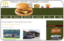 Internetauftritt und Betreuung 5 McDonalds Restaurants