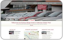 Webdesign und Konzept für Autohaus Berger in Pirka