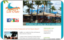 Webdesign und CMS LaOla Surfside Restaurant