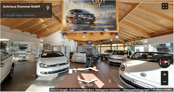 Beispiel 360 Grad Rundgang Autohaus