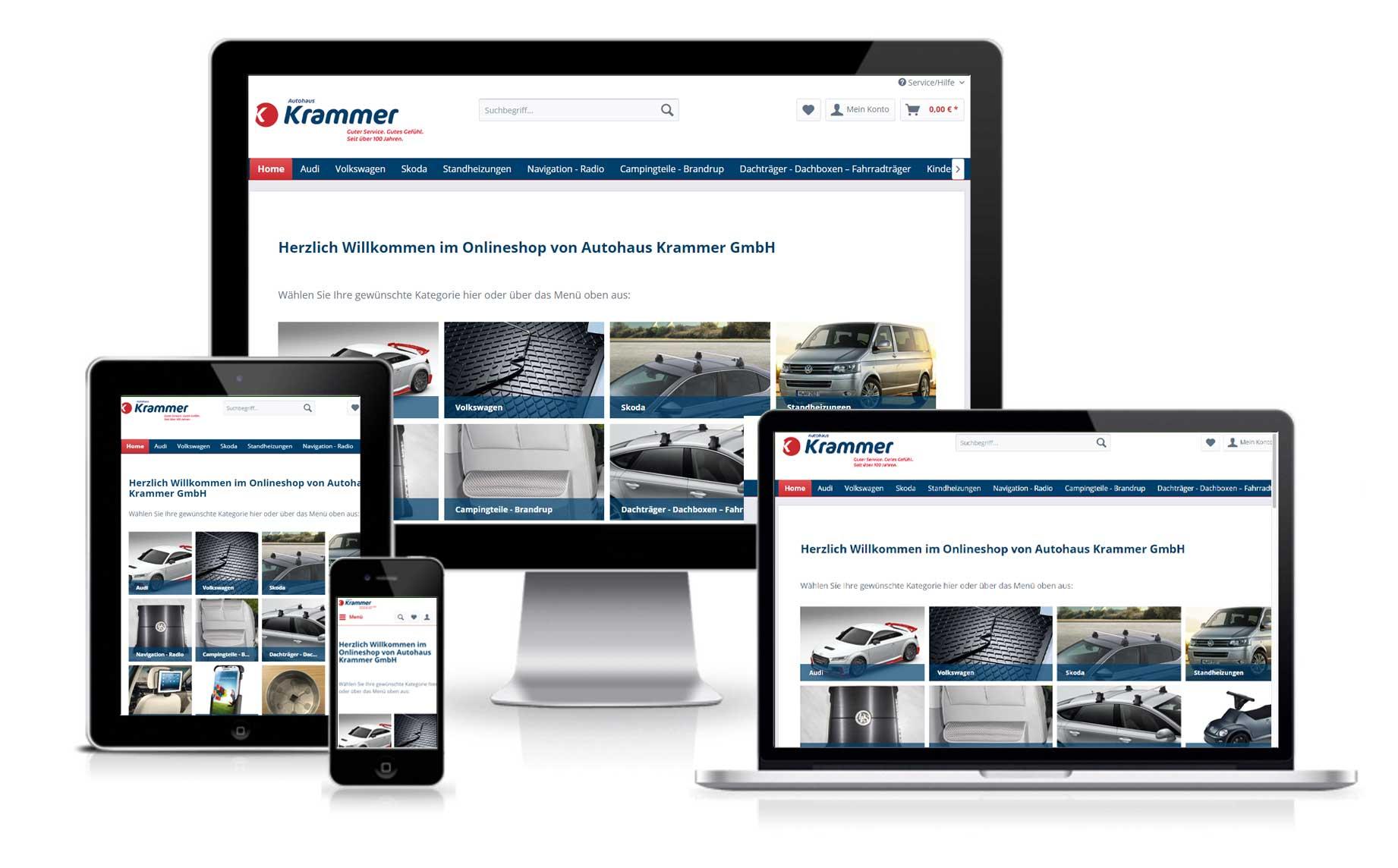 Online Shop Autozubehör Autohaus Krammer